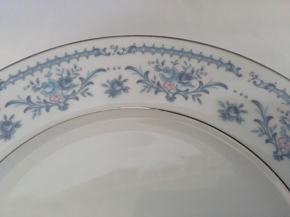 Winsford Ekco Fine China Blue And Pink Japan Plates Saucers image 3