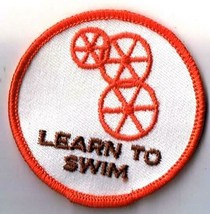 Vintage Wheelchair Swimming Patch Wheelswim Learn To Swim - $2.84