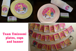 Team Umizoomi plates, banner & cups: Set of 30 - $74.95
