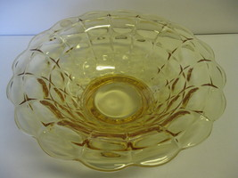 "Indiana Glass Tiara Exclusives Constellation 11 1/2"" Yellow Mist Console... - $54.99"