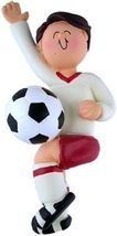 PERSONALIZED NAME MALE BOY SOCCER PLAYER ORNAMENT WE CAN CUSTOM PRINT FO... - $14.84