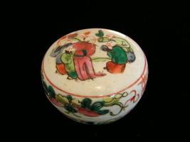 Antique Famille Verte Porcelain Seal Paste Ink Box #2 - $75.00