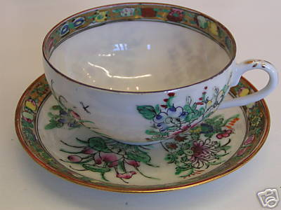 Primary image for Chinese eggshell four season cup and saucer set