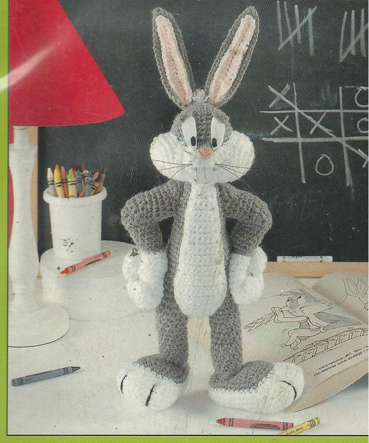 RARE~Looney Tunes Bugs & Pals Crochet Pattern Leaflet~4 Doll Designs