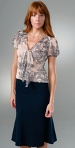 DIANE von FURSTENBERG LUTECE MOTH LACE TOP BLOUSE - US 10  - UK 14 - $82.06