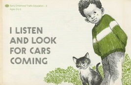 I Listen and Look for Cars Coming 1970s Vintage Childrens Book AAA Glori... - $7.91