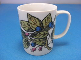 Fitz and Floyd Blue Berries and Green Leafs Mug - $6.99