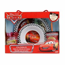 Cars 6 Piece Mealtime Dinnerware Set,Plate,Bowl,Fork&Spoon,Sports Sip Cu... - $49.49