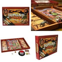 Deluxe Jumanji Classic Retro Board Game Real Wooden Box Toys Puzzle Fami... - $26.84