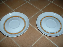 PRICE REDUCTION:  Two FRANCISCAN saucers - WHITESTONE WARE -  Made in Ja... - $5.99