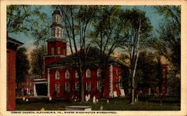 PICTURE POSTCARD-CHRIST CHURCH, ALEXANDRIA,VA- WHERE WASHINGTON WORSHIPP... - $2.94