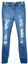 Pacsun Women's Ripped Destroyed Distressed Blue Demin Jegging Pants Size 26