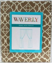 1 Count Waverly Lovely Lattice Natural Panel With Tieback Fits Up To 2 1... - $31.99