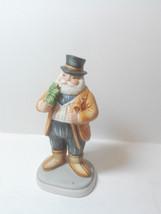Vintage Jolly Santa by Schmid 1985 B. Shackman Glad Tidings ceramic figurine - $18.49