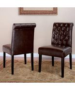Broxton Bonded Leather Dining Chair 2-pack,- Di... - $339.99