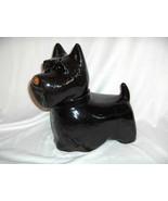 Vintage Black Poreclein Standing Scottie Dog Cookie Jar NICE - $74.25