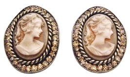 Colorado Crystals Embedded Beautiful Gift Idea Loved One Cameo Jewelry - $22.48