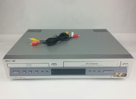 SONY DVD & 4 head VCR Combo SLV-D100 HiFi VHS Video Player Silver Face  - $87.05
