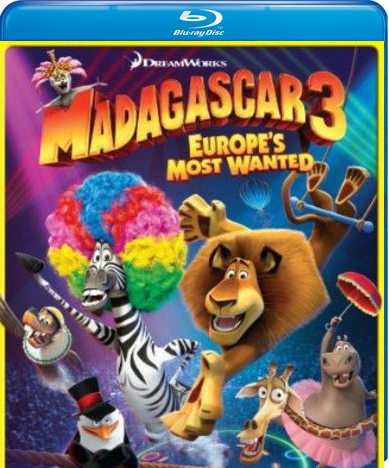 Madagascar 3: Europe's Most Wanted Combo [Blu-ray]