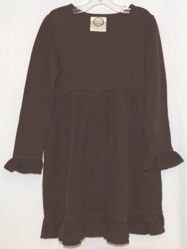 Blanks Boutique Long Sleeve Empire Waist Brown Ruffle Dress Size 4T