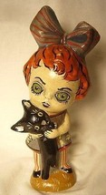 VAILLANCOURT FOLK ART GHOULY GIRL SIGNED BY JUDI!  HALLOWEEN - £158.32 GBP