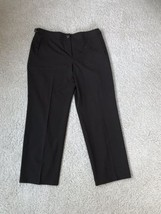 TALBOTS - CHOCOLATE BROWN PANTS Size 12 Straight W/ side Buckle - $11.00