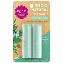 eos 2-Pak Certified Organic Lip Balm Sweet Mint 100% Natural Moisturize ... - $6.44