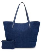 New with Tag - $275 Rebecca Minkoff Dark Denim Suede Lined Tote Bag with... - $119.99