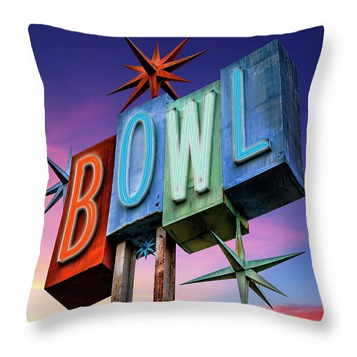 Bowl retro sign pillow