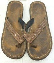 Clarks Shoes Brown Leather Slide Thong Sandals shoes Women's Size 9 M - $24.74