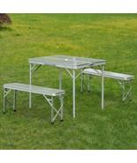 Portable Picnic Table Bench Set Outdoor Folding Garden Camping 3 pcs All... - $89.65