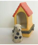 Vintage Ceramic Dog House with Dog Trinket Box - $16.00