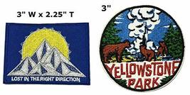 Lost in The Right Direction and Yosemite National Park Series 2-Pack Embroidered - $7.89