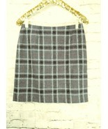 "women's Petite Sophisticate gray/white/red plaid skirt waist 30"" - $9.05"