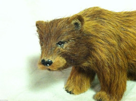 Wild Brown Grizzly Bear Animal Figurine - recycled rabbit fur image 2