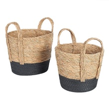 Mainstays Natural Seagrass & Paper Rope Baskets, Set of 2, Small and Medium - $30.00