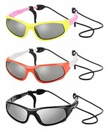 3 Sets Kids Sunglasses Children Sports Sunglasses with Rubber Strap for ... - $15.31