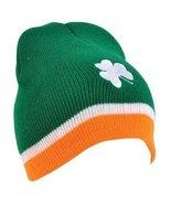 St. Patricks Day Shamrock Tri - Color Beanie Hat - CCEnterprises - $7.66