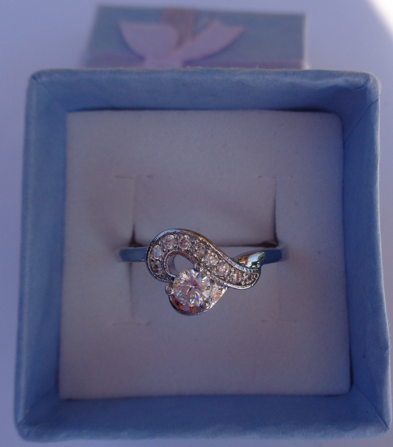 Sterling Silver 925 Twisted Heart Ring NIB Women's Size 7