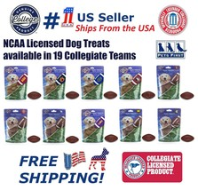 NCAA Dog Treats Natural & Delicious Dog Cookies Licensed with engraved F... - $12.59