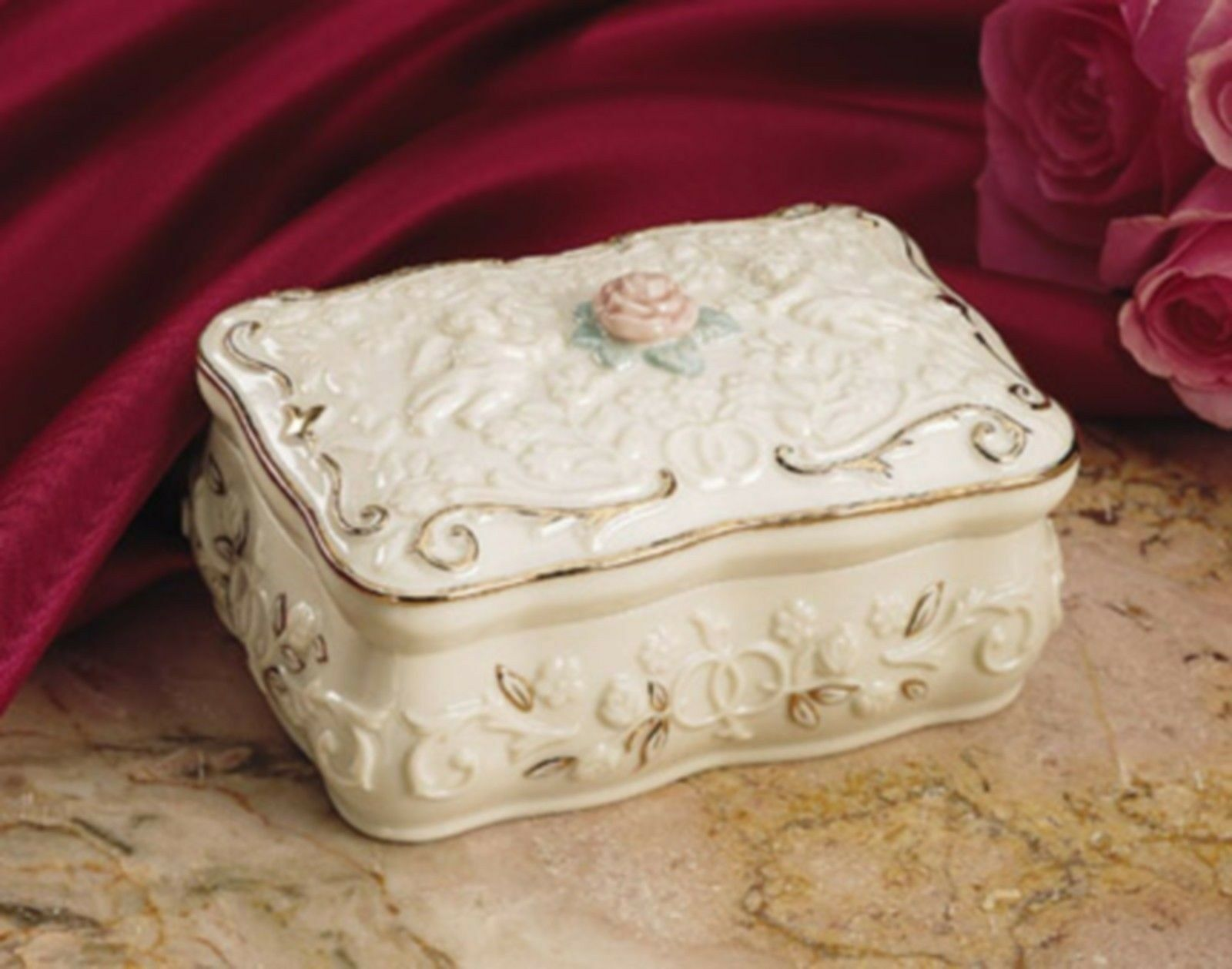 """Lenox Promised Love Music Box Plays """"Love Story"""" - Beautiful Gift Mother's Day - $60.38"""