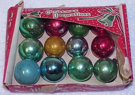"Vintage 1-1/4"" Small Glass Christmas Ornaments - # 31 - Japan - $12.99"