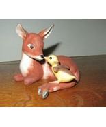 "Cute 1981 ""Friends"" By Eva Dahberg Deer & Duckling Figurine-Franklin Mint - $14.95"
