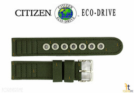 Citizen Eco-Drive BM8180-03E 18mm Green Cloth Nylon LONG Watch Band S006597 - $54.95
