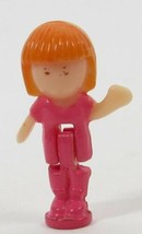 1991 Vintage Polly Pocket Doll Dream World Midge Coral Outfit Bluebird - $6.50