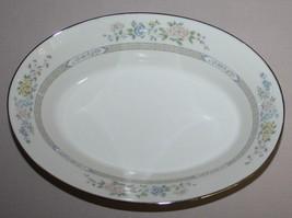 "Gorham Cherrywood Oval Vegetable Bowl 10"" Fine China Platinum Band - $59.35"