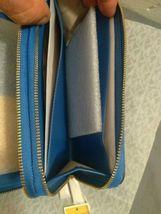 Michael Kors Signature Jet Set Large Double Zip Wristlet - Vintage Blue image 10