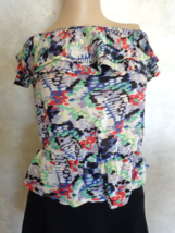 Final Touch Double Ruffle Tube Top Blouse Size L (#2937) - $25.99