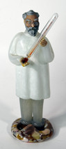 """8"""" Vintage Czech Art Glass Doctor Holding Thermometer American Cut Crystal - $142.49"""