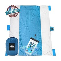Sandfree Beach Blanket Huge Ground Cover 9' x 10' for 7 Adults Picnic Ca... - $735,91 MXN
